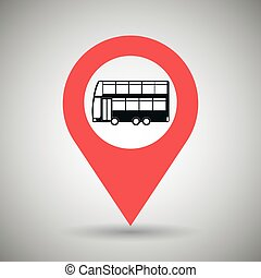 red  signal of bus side isolated icon design