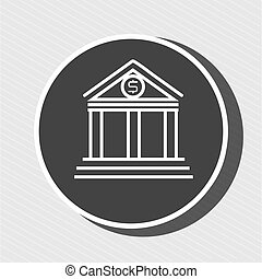 symbol of bank blue isolated icon design