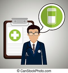 doctor stethoscope specialist history clinic vector...