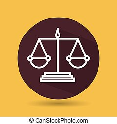 symbol of justice isolated icon design