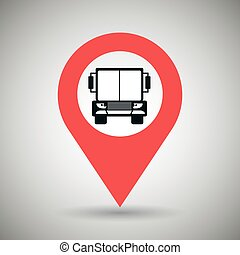 red signal of truck isolated icon design