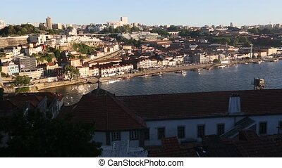 View of Douro river and Porto