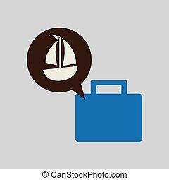 people travel destination isolated, vector illustration...