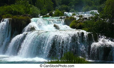 Waterfalls Krka in Dalmatia Croatia - National Park...