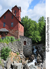 Old Mill in Jericho - Old Chittendon Mill in Jericho,...