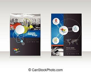 Business brochure flyer template design Vector eps10