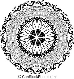 Baroque pattern round