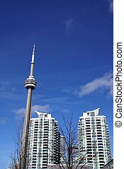 CN Tower, Toronto, Canada - CN Tower in Downtown, Toronto,...