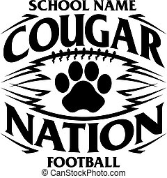 cougar football - tribal cougar nation football team design...