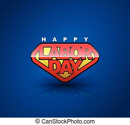 Happy Labour day badge shield. text signs. vector...