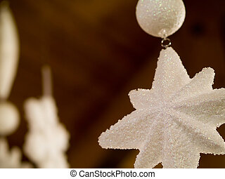 Christmas Tree Holiday Star Ornaments Hanging from Ceiling