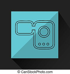 cinema film roll   isolated, vector illustration eps10