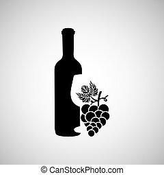 wine grapes design - wine grapes icon design, vector...