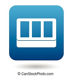 Windows in house icon, simple style - Windows in house icon...
