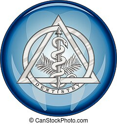 Dentistry Medical Symbol Button is an illustration of a...