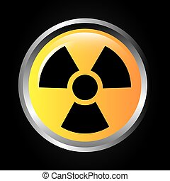 atomic signal button isolated icon design, vector...