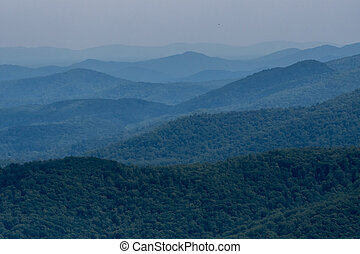 Layers of Mountains in Virginia