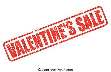 VALENTINE SALE RED STAMP TEXT ON WHITE