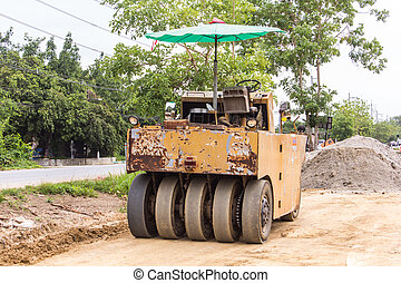 Old Yellow Steamroller