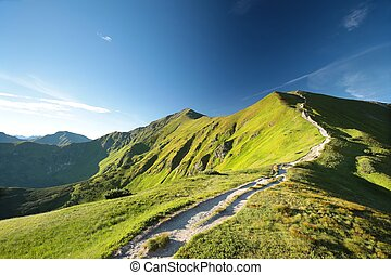 Tatra Mountains at dawn - Trial to the peak in Tatra...
