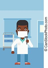 Ear nose throat doctor. - An african-american male ear nose...