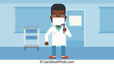 Ear nose throat doctor - An african-american male ear nose...