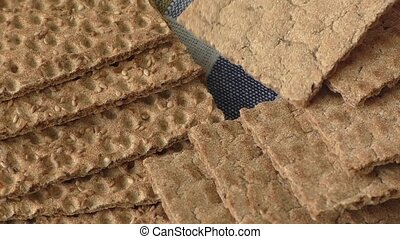 Texture of brown bread with sesame
