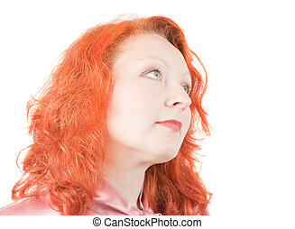 carroty woman - portreit of beautiful carroty woman ....