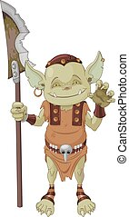 Goblin Warrior - Illustration of very cute goblin creature