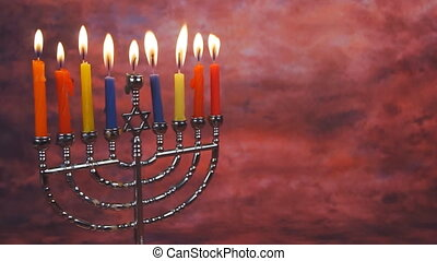 Lighting Hanukkah Candles Hanukkah celebration judaism...