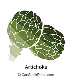 Artichoke icon. Flat color design. Vector illustration.
