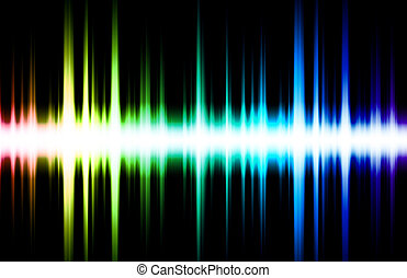 Soundwave Digital Graph as Clip Art Abstract