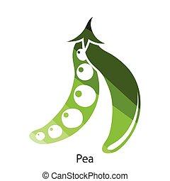 Pea icon Flat color design Vector illustration