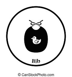 Bib icon Thin circle design Vector illustration