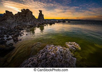 Calcium Spires at Mono Lake - Tufa Towers Calcium Carbonate...