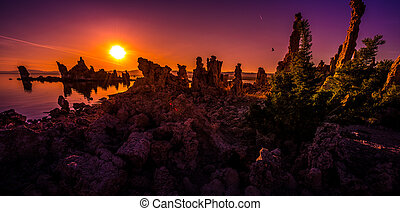 Mono Lake Sunrise - South Tufa at Sunrise Mono Lake...
