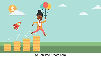 Successful business start up vector illustration. - An...
