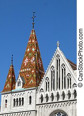 Budapest Hungary Matthias Church - With its intricate tiled...