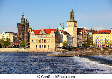 Prague, Czech Republic - The Old Town with Charles Bridge...