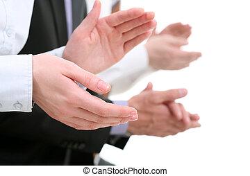 Applauding hands - Photo of businesswomans hands applauding...