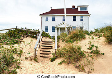 Beach house at Cape Cod, Massachusetts, USA.