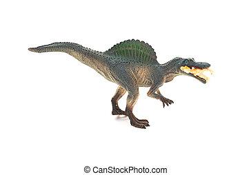 lado, vista, gris, spinosaurus, juguete, gracioso, Un,...