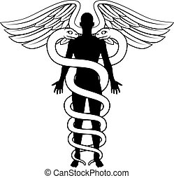 Caduceus Person Concept - A conceptual graphic of a caduceus...