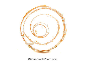 wood shavings on a white background