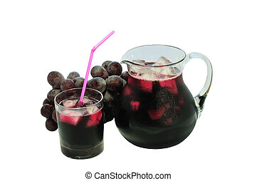 isolated grape juice - isolated glass of grape juise with a...