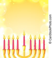 Happy Hanukkah, vector illustration - Happy Hanukkah,...