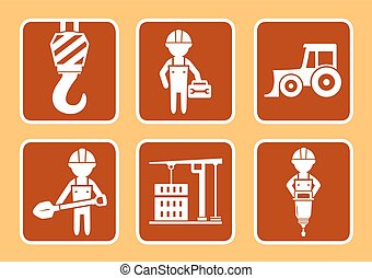 builder with construction equipment