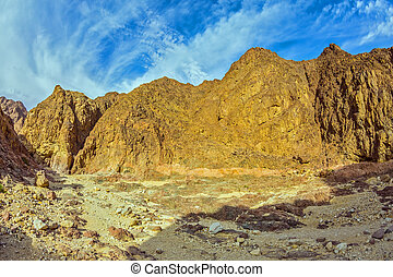 Black canyon in Eilat mountains - Picturesque and...