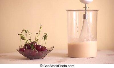 Preparation milk cocktail