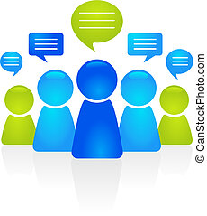 Business communication - Abstract business people figures...